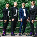 wedding party suits and socks