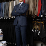 Robert Mihalik in a blue Bay St power suit