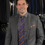 Tom Mihalik Jr sporting lots of colour with a classic looking suit