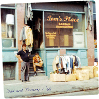 Tom with his father circa 1968