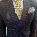 stripe-suit-yellow-tie-covid-fashion