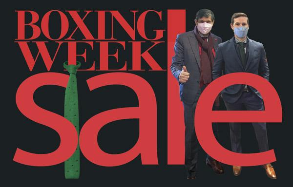 Boxing week sale head